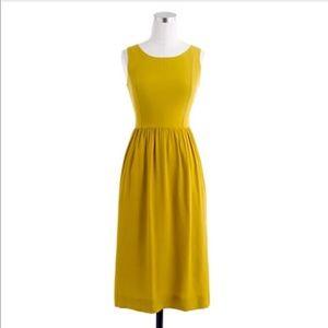 J. CREW | Yellow Heather Style Midi Dress Summer